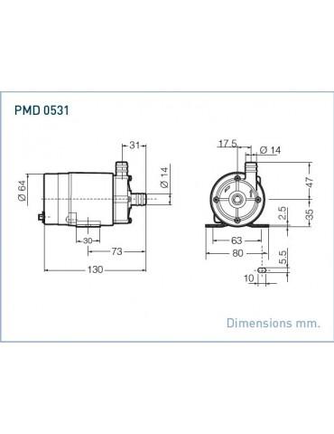 SANSO Pompa mod. PMD-0531 220V AC Attacchi Portatubo