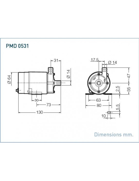 SANSO Pompa mod. PMD-0531 220V AC Attacchi Portatubo Sanso - 1