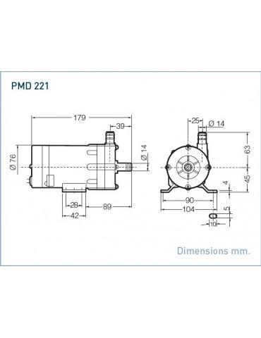 SANSO Pompa modello PMD-221  220V AC Attacchi Portatubo