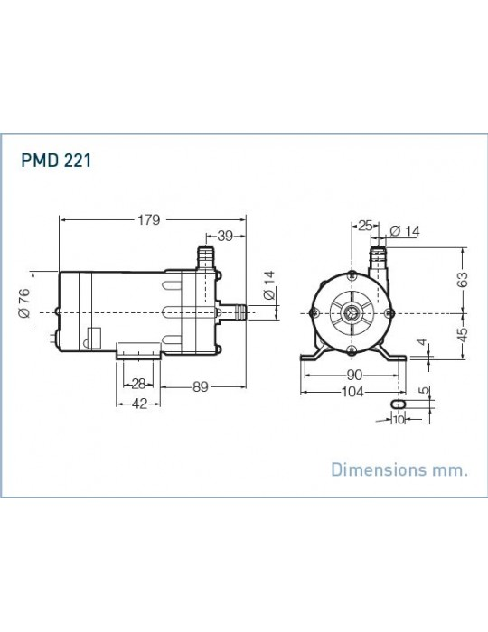 SANSO Pompa modello PMD-221  220V AC Attacchi Portatubo Sanso - 1