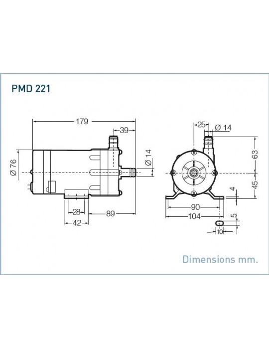"SANSO Pompa mod. PMD-221/12  220V AC Attacchi filettati 1/2"" Sanso - 1"