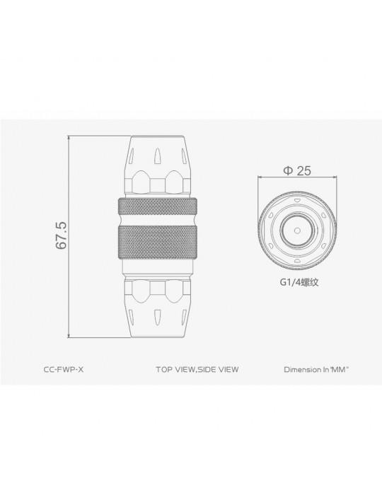 Bykski Sgancio rapido F/F 1/4G mod. CC-FWP-X SILVER Bykski - 4