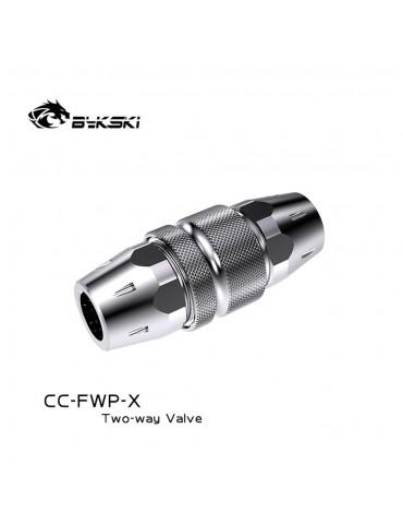 Bykski Sgancio rapido F/F 1/4G mod. CC-FWP-X SILVER