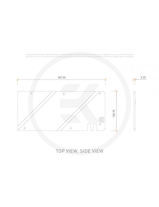 EK-Quantum Vector TUF RX 6800/6900 Backplate - Black EKWB - 3