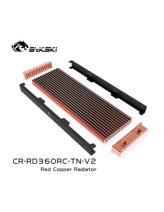 Bykski 360mm Radiatore slim D30 V2 Full Copper - CR-RD360RC-TN-V2 Bykski - 2