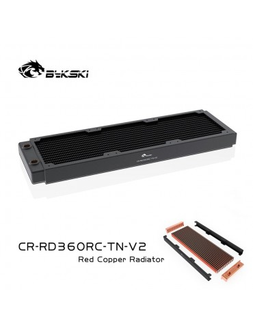 Bykski 360mm Radiatore slim D30 V2 Full Copper - CR-RD360RC-TN-V2