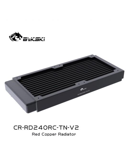 Bykski 240mm Radiatore slim D30 V2 Full Copper - CR-RD240RC-TN-V2 Bykski - 5