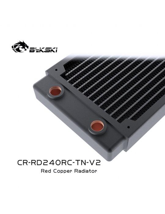 Bykski 240mm Radiatore slim D30 V2 Full Copper - CR-RD240RC-TN-V2 Bykski - 3