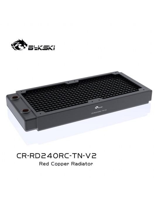 Bykski 240mm Radiatore slim D30 V2 Full Copper - CR-RD240RC-TN-V2 Bykski - 4