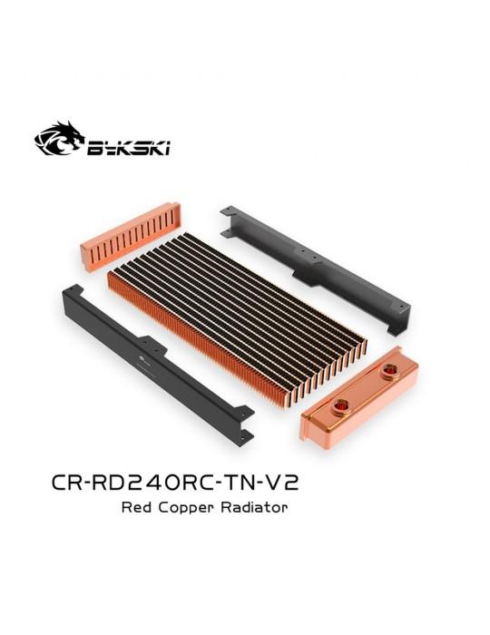 Bykski 240mm Radiatore slim D30 V2 Full Copper - CR-RD240RC-TN-V2 Bykski - 2