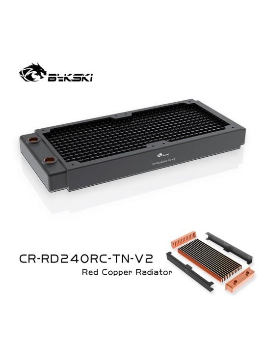 Bykski 240mm Radiatore slim D30 V2 Full Copper - CR-RD240RC-TN-V2 Bykski - 1