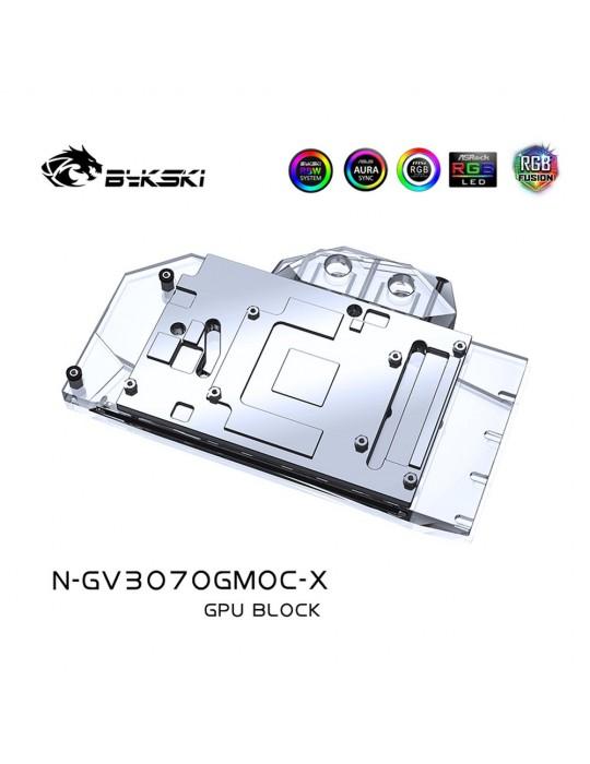Bykski Waterblock GPU Gigabyte 3070 Gaming OC / Eagle OC / Vision OC (incl. Backplate) N-GV3070GMOC-X Bykski - 2