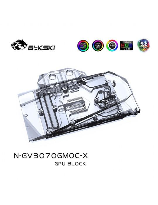 Bykski Waterblock GPU Gigabyte 3070 Gaming OC / Eagle OC / Vision OC (incl. Backplate) N-GV3070GMOC-X Bykski - 1