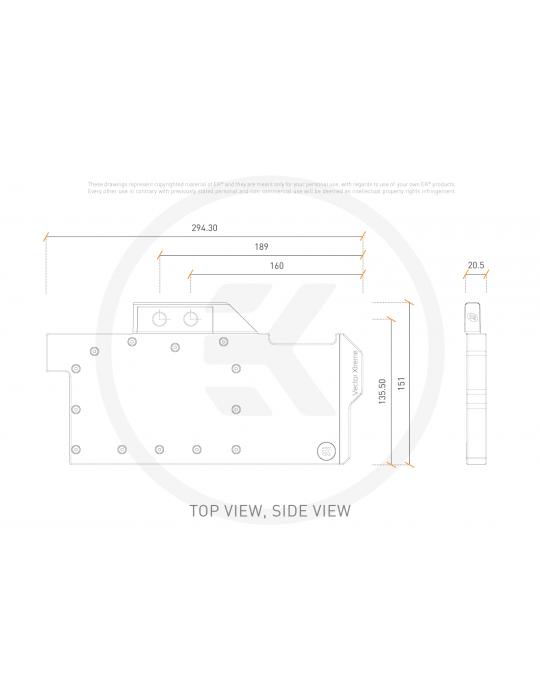 EK-Quantum Vector Xtreme RTX 3080/3090 D-RGB - Nickel + Plexi EKWB - 7