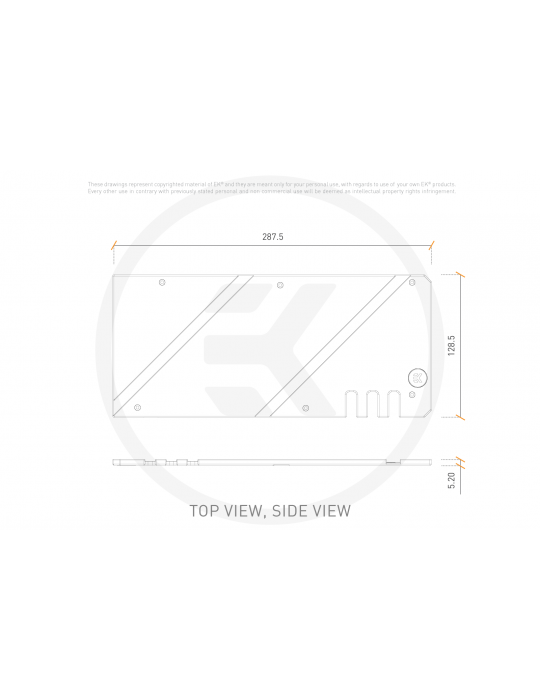 EK-Quantum Vector Strix RX 6800/6900 Backplate - Black EKWB - 3