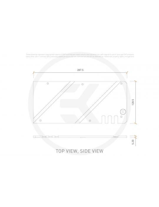 EK-Quantum Vector Strix RX 6800/6900 Backplate - Nickel EKWB - 3