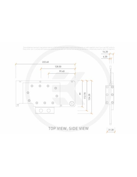 EK-Quantum Vector RE RTX 3080/3090 Active Backplate - Acetal EKWB - 4