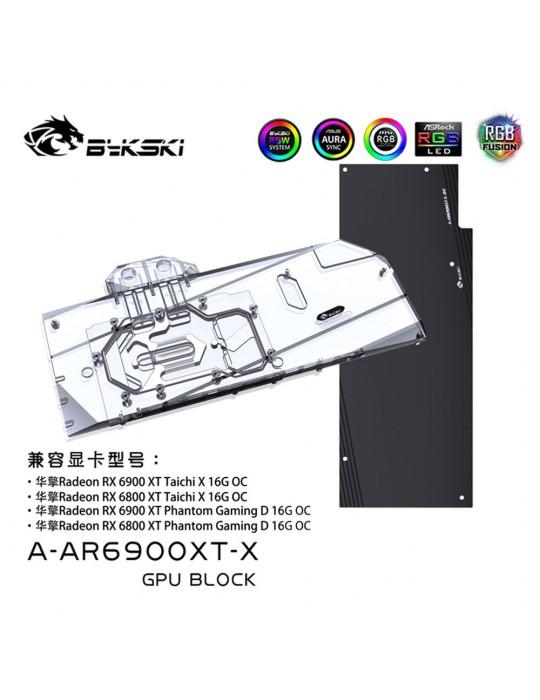 Bykski Waterblock ASRock Phantom / Taichi 6800XT / 6900XT (incl. Backplate) Bykski - 2