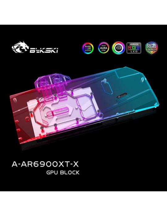 Bykski Waterblock ASRock Phantom / Taichi 6800XT / 6900XT (incl. Backplate) Bykski - 4